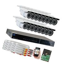 GW Security 16-Channel HD-TVI 1080P Complete Security System
