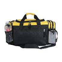 """DALIX 19"""" Gym Duffel Bag with Water Bottle / Valuables Side"""