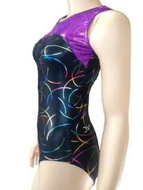 Victoria's Challenge Gymnastic Leotard Sparkle Purple