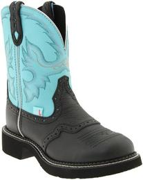 Justin Boots Women's Gypsy Boot,Black Deer Cow,8.5 B US