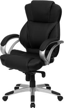 Flash Furniture H-9626L-2-GG High Back Black Leather