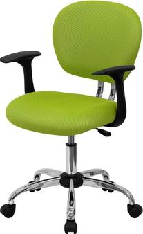 Flash Furniture H-2376-F-GN-ARMS-GG Mid-Back Apple Green