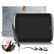 "Huion H690 Graphic Tablet with 15"" Grey Wool Liner Bag and"