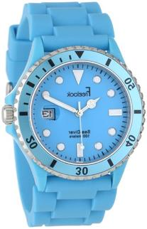 Freelook Men's HA1433-6C Sea Diver Jelly Blue Silicone Band