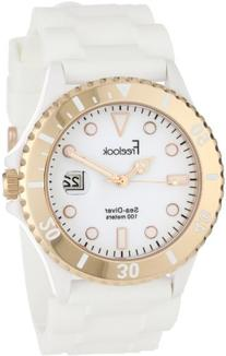Freelook Men's HA1433RG-9 Sea Diver Jelly White with Rose
