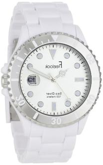 Freelook Men's HA1437-9C Sea Diver White Silver Dial Silver