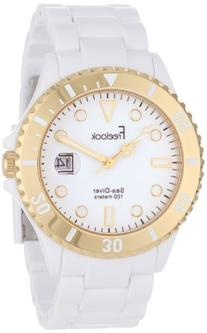 Freelook Men's HA1437G-9 Sea Diver White Dial Gold Bezel