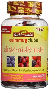 Nature Made Hair, Skin and Nails Adult Gummies, 90 Count