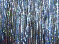 "20"" Hair Tinsel 100 Strands - Sparkling Silver"