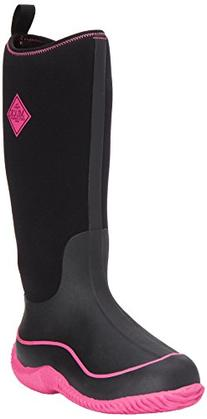 Muck Boot Women's Hale Snow, Black/Hot Pink, 7 M US