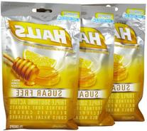 Halls Sugar Free Cough Drops with Honey-Lemon - 25 Drops Per