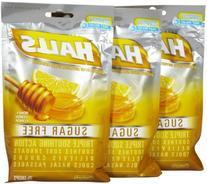 Halls Sugar Free Cough Drops with Honey-Lemon - 25 Drops Per Bag, 12 Bags Total