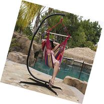 Bellezza© Hammock Chair with C Frame Stand Combo Haning