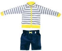 SwimZip Little Boy Long Sleeve Zipper UV Protective Rash