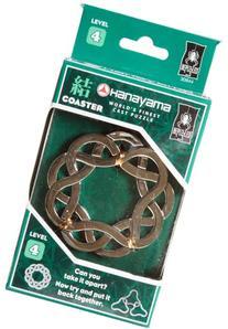 Hanayama Cast Metal Brainteaser Puzzles - Coaster Puzzle