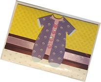 Hand Assembled Baby Gift Card Holder with Envelope