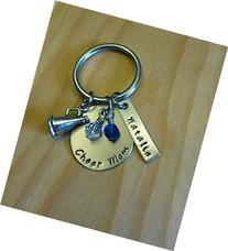 Hand Stamped Cheer Keychain - Cheerleading Keychain - with