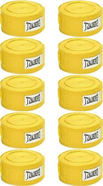 Professional Hand Wraps Yellow - 10 Pack