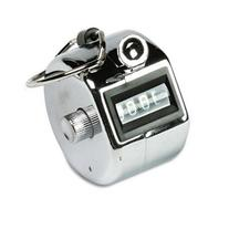 Officemate Handheld Tally Counter, Metal/Chrome