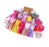 10 pcs Fashion Handmade Dresses outfit for Barbie Doll Toy