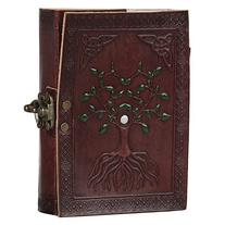 Hand Painted Tree of Life Leather Journal Diary Notebook Men