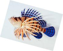 Handpainted Tropical Lion Fish Replica Wall Mount Decor