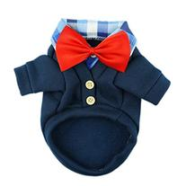 Fitwarm Handsome Western Dog Coats Pet Polo Clothes Soft