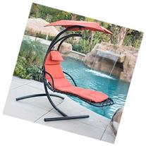 BELLEZZA Hanging Chaise Lounger Chair Arc Stand Air Porch
