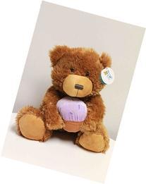 Happy Birthday Plush 15 Inch Purple Cupcake Bear