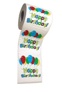 BigMouth Inc Happy Birthday Toilet Paper, Novelty Printed