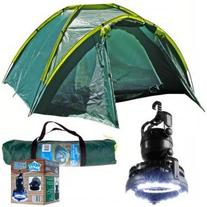 Happy Camper Three Person Tent Plus 2-In-1 Light And Fan