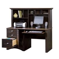 Harbor View Computer Desk With Hutch - Antiqued Paint finish