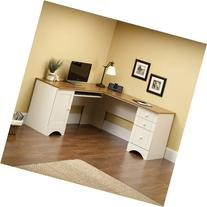 Sauder Harbor View Corner Computer Desk, Antiqued White