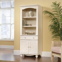 """Sauder 401632 Harbor View Library with Doors, L: 27.21"""" x W"""