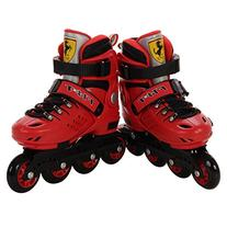 Ferrari Hard Boot Free Style Adjustable Inline Skate Red,