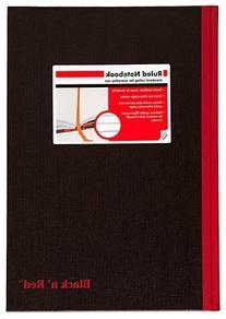 Black n' Red Business Notebook, Hardcover, Casebound, 11-3/4