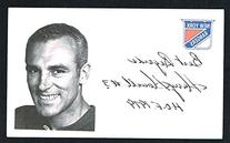 Harry Howell signed autograph auto 3x5 index card NHL Hall