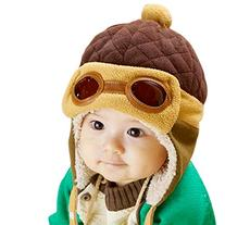 PanDaDa Baby Boys Hats Winter Warm Cap Hat Beanie Pilot
