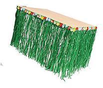 Hawaiian Luau Tablecloth, Hibiscus Flower Grass Skirt, Hula