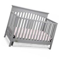 Graco Hayden 4-in-1 Convertible Fixed Side Crib, Pebble Gray