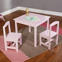 Hayden Kids' 3 Piece Square Table and Chair Set Finish: Pink