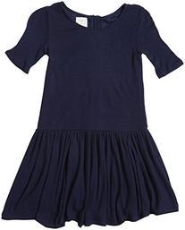 Ella Moss Big Girls' Hazel Knit Dress, Navy, 14