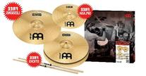 Meinl Cymbals HCS1314+10S HCS Cymbal Set Pack with FREE