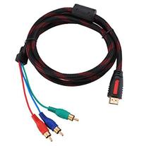 1.5m 5ft HDMI to 3-RCA Male Audio Video Component Convert