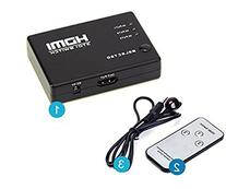 Aiskaer 3-port HDMI Switch 3x1 3 In 1 Out Auto Switch