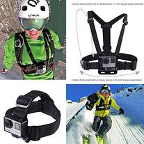 Smatree Head Strap Mount + Chest Mount for GoPro Session,