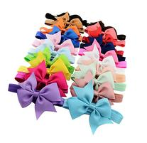 Qandsweet 20pcs Baby Girls Headbands and Forked Tail Bow