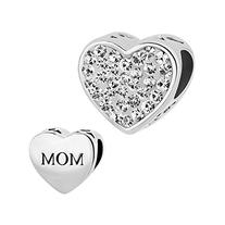 Sale Cheap Heart Mom I Love You Jewelry Charms New Clear