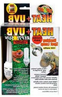 Zoo Med Heat and UVB Basking Spot Lamp and Reptile Sun