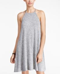 Fire Juniors' Heathered Halter Shift Dress